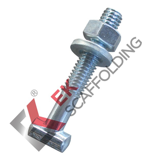 Electro Galvanized T-Bolt Nut Washer Scaffolding Accessories
