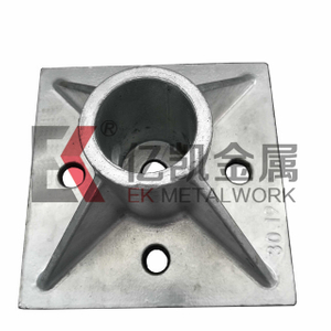 Base Plate Customized Machining Casted Hot Dip Galvanized Baseplate