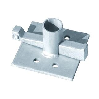 HDG Base Plate With wedge for Construction